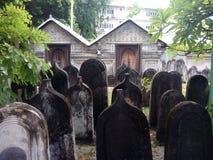 Kyrkogård på mannen (Maldiverna) Arkivfoton