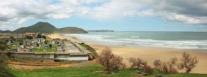Kyrkogård på stranden Arkivbilder