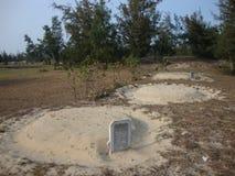 Kyrkogård på stranden Royaltyfri Foto