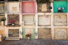 Kyrkogård San Miguel de Allende, Mexico Royaltyfri Bild