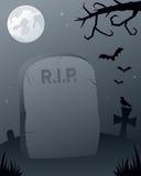 kyrkogård spöklika halloween Arkivbild