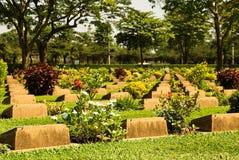 kyrkogård thailand ww2 Royaltyfri Foto
