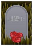 Kyrkogårdallhelgonaaftonkort Arkivfoton