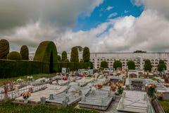 Kyrkogården av Tulcan, Ecuador, grundades i 1932 Royaltyfria Foton