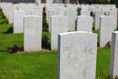 kyrkogården kriger Arkivbild