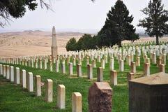 Kyrkogården på Little Bighorn i Montana royaltyfria foton