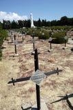 kyrkogårdfransmanmilitär arkivbilder