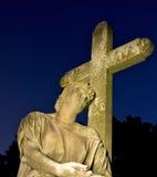 kyrkogårdgravstenklosterbroder Royaltyfri Bild