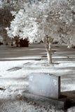 kyrkogårdinfrared Fotografering för Bildbyråer