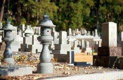 kyrkogårdjapan Arkivfoto
