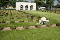 kyrkogårdkanchanaburi Arkivbild