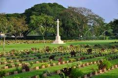 kyrkogårdkanchanaburien thailand kriger Arkivbilder