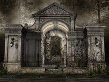 Kyrkogårdkapell royaltyfri illustrationer