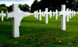 kyrkogårdmilitär royaltyfria foton
