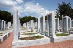 kyrkogårdmilitärturk royaltyfri bild