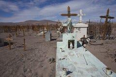 Kyrkogård i den Atacama öknen av Chile Fotografering för Bildbyråer