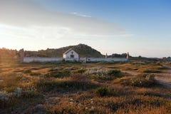 Kyrkogård på den Lavezzi ön, Korsika, Frankrike Royaltyfria Foton