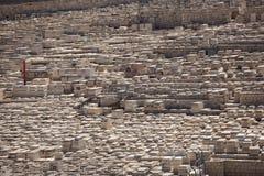Kyrkogård på Mountet of Olives, Jerusalem Royaltyfri Foto