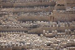 Kyrkogård på Mountet of Olives, Jerusalem Arkivfoto