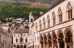 Kyrkoherdeslott Dubrovnik Arkivfoto