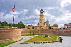 Kyrkor av Alba Iulia, Rumänien Arkivfoton