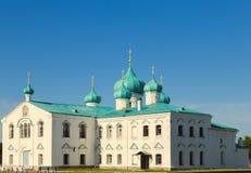 Kyrkor av omgestaltningSten Alexander av den Svir kloster arkivfoton