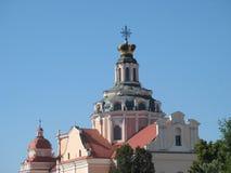 Kyrkor av Vilnius Fotografering för Bildbyråer