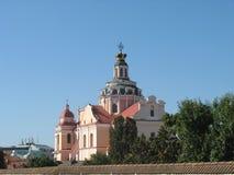 Kyrkor av Vilnius Arkivfoton