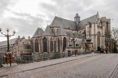Kyrkor i Ghent, Belgien Arkivbild
