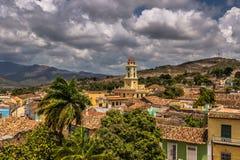 Kyrkor i horisonten av Trinidad, Kuba Royaltyfria Foton