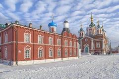 Kyrkor i Kolomna kremlin royaltyfri fotografi