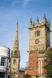 Kyrkor i Shrewsbury, England Arkivbild