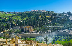 Kyrkorna på Mountet of Olives fotografering för bildbyråer