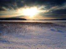 Kyrksjön_01 em Forsa - Hudiksvall foto de stock royalty free