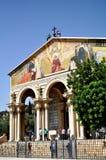 Kyrktaga allra nationer i Mount of Olives i Jerusalem, Israel royaltyfri fotografi