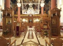 kyrktaga den ortodoxa insidan royaltyfria foton
