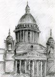 kyrktaga den petersburg sainten stock illustrationer