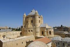kyrktaga dormitionen israel Arkivfoton