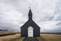 Kyrktaga i Búðir på den Snæfellsnes halvön, västra Island royaltyfri fotografi