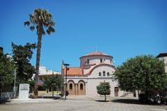 Kyrktaga i centret av Hersonissos i Kreta, Grekland Royaltyfria Foton