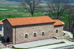 Kyrktaga i den forntida fästningen Tsari akademikra Mali, Sofia Province Royaltyfri Foto