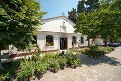 Kyrktaga i kloster av St George i Pomorie i Bulgarien Royaltyfri Bild