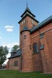 Kyrktaga i Zabawa nära Krakow i Polen förband med livnollan Royaltyfri Fotografi