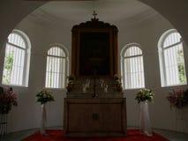kyrktaga interioren arkivbild