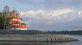 Kyrktaga på blod på flodbanken Volga Royaltyfria Bilder