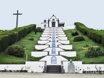 Kyrka på den SaoMiguel ön Arkivbild