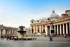 kyrktaga peter s st vatican Arkivfoton