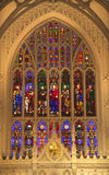 kyrktaga stadsexponeringsglas inom ny nedfläckad trinity york Royaltyfria Foton