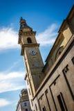 Kyrktorn av kyrkan av helgonet Carlo Borromeo, Turin, Italien royaltyfria bilder