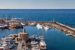 Kyrnia Harbour Royalty Free Stock Images